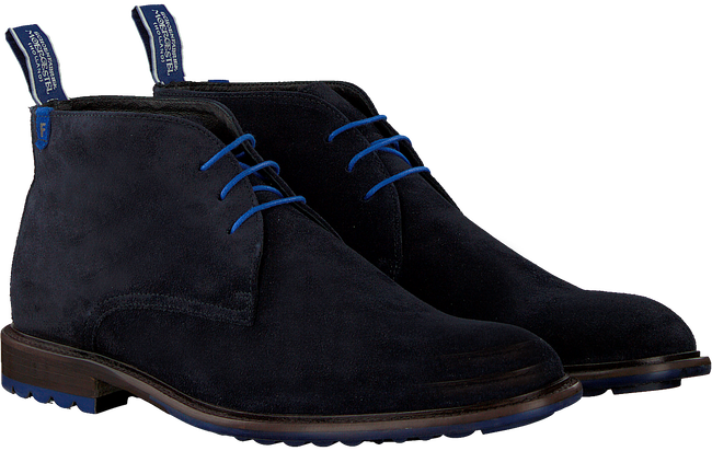 FLORIS VAN BOMMEL Bottines à lacets 10203 en bleu  - large