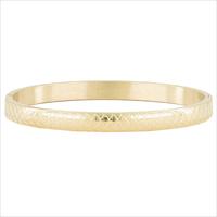 Gouden MY JEWELLERY Armband BANGLE MET SCHUBBEN - medium