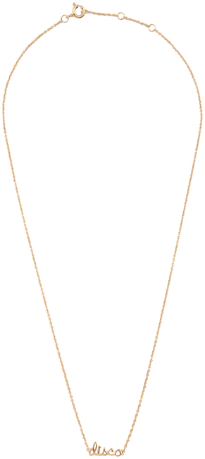 ALLTHELUCKINTHEWORLD Collier URBAN NECKLACE DISCO en or - large