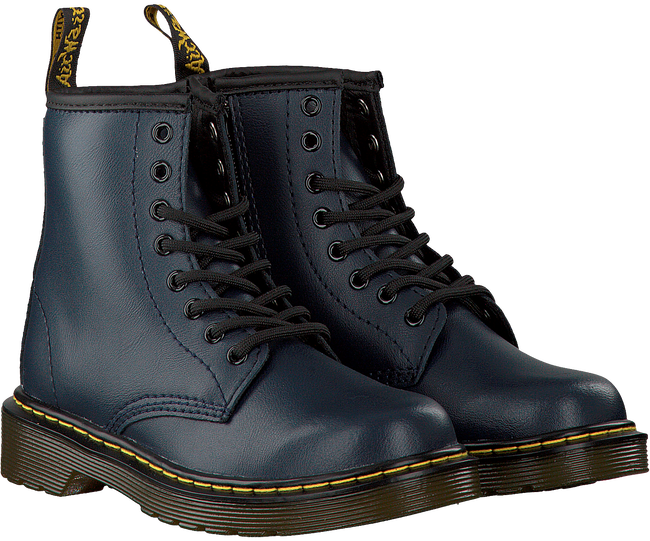 DR MARTENS Bottines à lacets DELANEY/BROOKLY en bleu - large