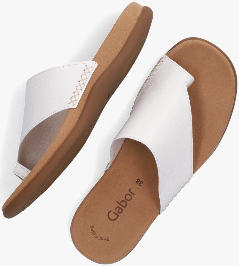 Witte GABOR Slippers 700  - larger