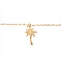 Gouden ATLITW STUDIO Armband SOUVENIR BRACELET PALM TREE - medium