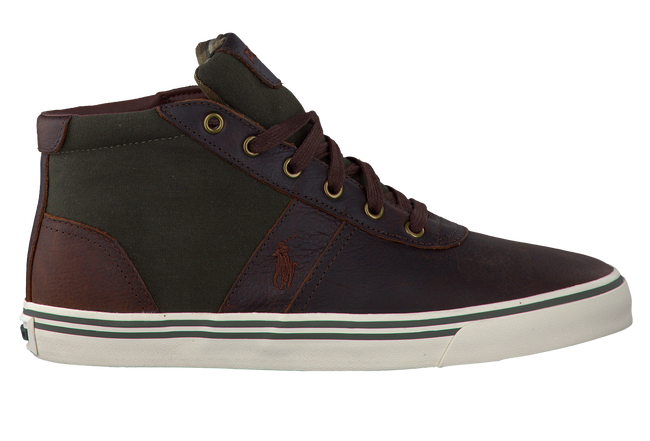 POLO RALPH LAUREN Baskets HANFORD MID en marron - large