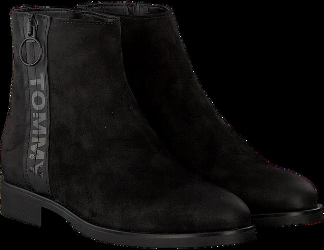 Zwarte TOMMY HILFIGER Chelsea boots TOMMY JEANS ZIP FLAT  - large
