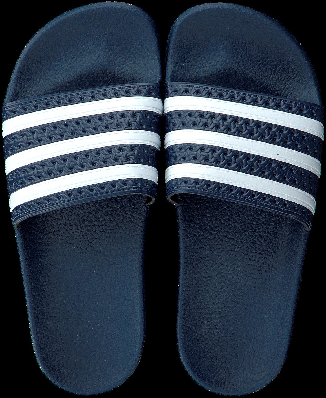 Blauwe ADIDAS Slippers ADILETTE DAMES - Omoda.be
