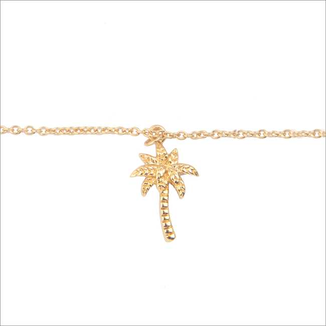 ALLTHELUCKINTHEWORLD Bracelet SOUVENIR BRACELET PALM TREE en or - large