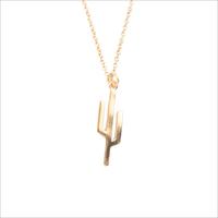 Gouden ATLITW STUDIO Ketting SOUVENIR NECKLACE CACTUS - medium