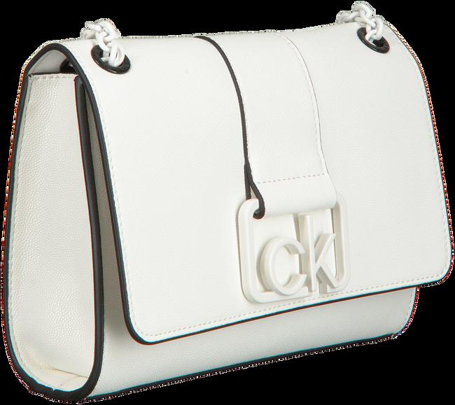 Witte CALVIN KLEIN Schoudertas CK CAST CONV MD  - large