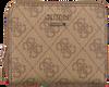 GUESS Porte-monnaie CATHLEEN SLG CHEQUE SMALL ZIP en marron  - small
