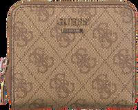 GUESS Porte-monnaie CATHLEEN SLG CHEQUE SMALL ZIP en marron  - medium