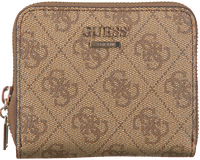 Bruine GUESS Portemonnee CATHLEEN SLG CHEQUE SMALL ZIP  - medium