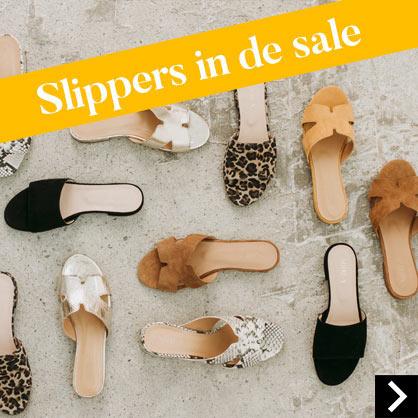 Slippers in de sale